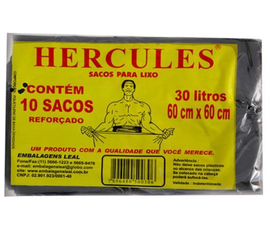Saco para lixo Hercules preto 30L - Imagem em destaque