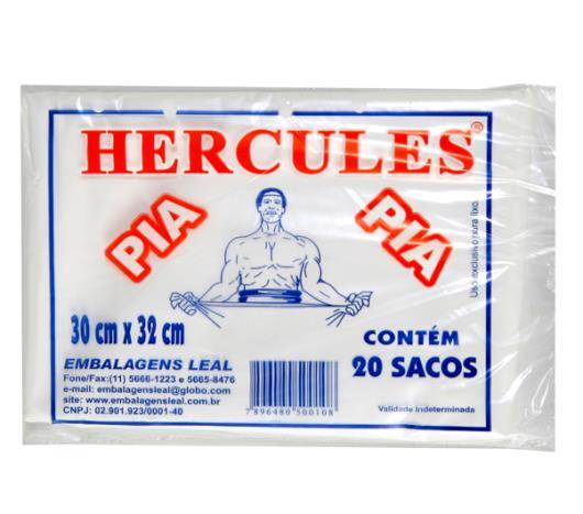 Saco Lixo Hercúles Pia 30cm x 32cm c/ 20 unids. - Imagem em destaque