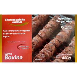 Espetinho Jundiaí de carne bovina temperada 480g
