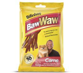Alimento para cães Baw Waw bife carne raças pequenas 60g