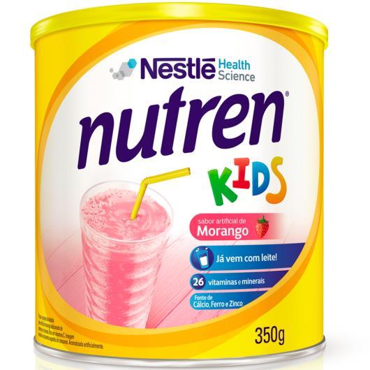 Nestlé NUTREN KIDS Morango Complemento Alimentar Lata 350g - Imagem em destaque