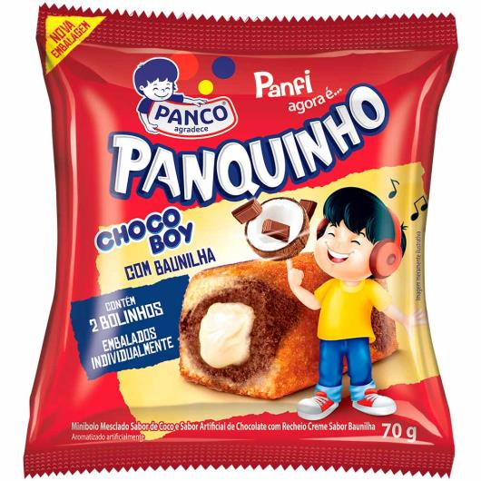Mini bolo Panco Panquinho chocoboy 70g - Imagem em destaque
