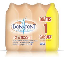 Água mineral Bonafont 500ml Leve + Pague - com 12 unidades