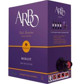 """Vinho Arbo Merlot Tinto Seco """"bag in box"""" 3L"""