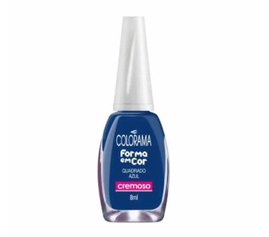 Esmalte Colorama cremoso quadrado azul 8ml - Imagem em destaque