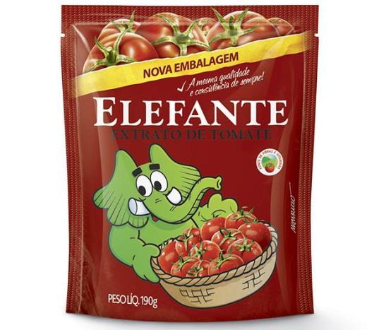 Extrato de tomate Elefante sache 190g - Imagem em destaque