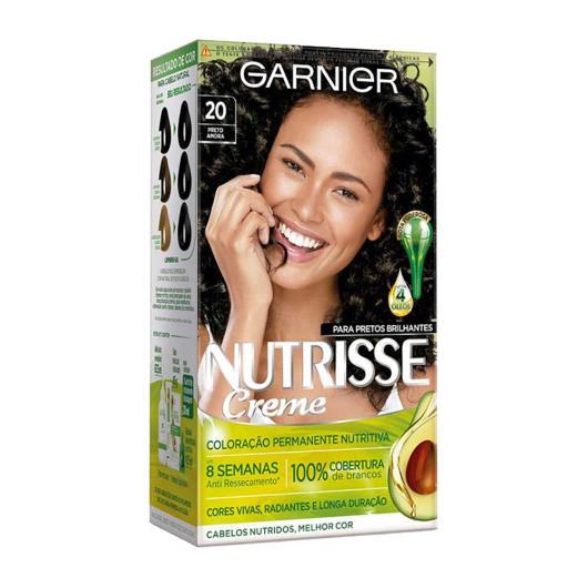 Garnier Nutrisse Coloração de Cabelo Creme Preto Amora 20 - Imagem em destaque