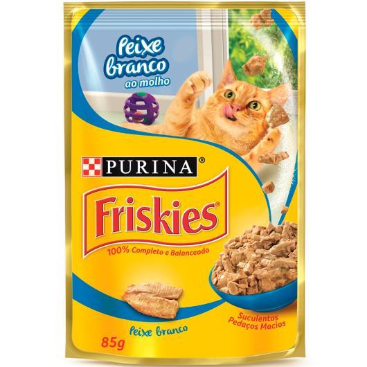 Alimento para gatos Friskies adulto peixe sachê 85g - Imagem em destaque