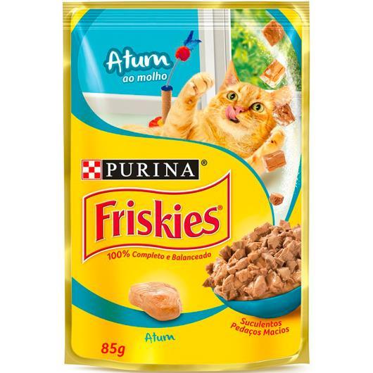 Alimento para gatos Friskies adulto atum sachê 85g - Imagem em destaque