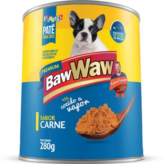 Alimento para cães Baw Waw Filhotes carne lata 280g - Imagem em destaque