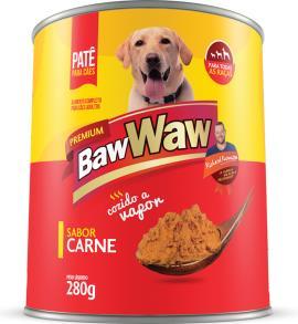 Alimento para cães Baw Waw adultos carne lata 280g