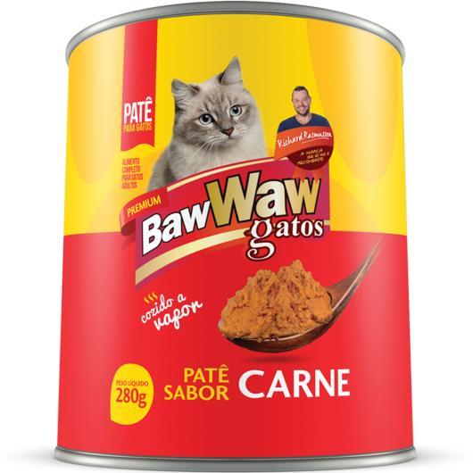 Alimento para gatos Baw Waw adultos carne lata 280g - Imagem em destaque