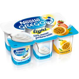 Iogurte Nestlé grego Light 3 sabores Pote 540g