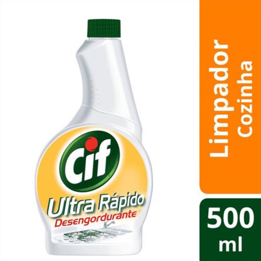 Refil Limpador Cif Ultra rápido desengordurante 500ml - Imagem em destaque