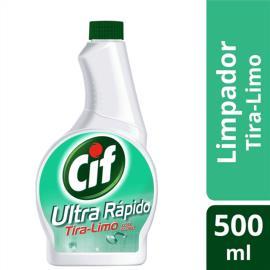 Refil Limpador CIF Ultra Rápido Tira-Limo Com Cloro 500 ML