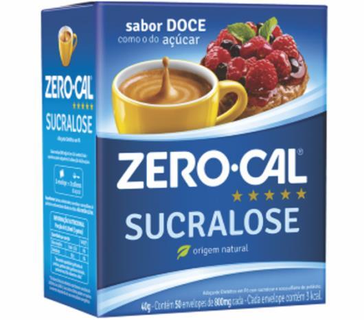 Zero-Cal Sucralose Adoçante em Pó 50 sachês - Imagem em destaque