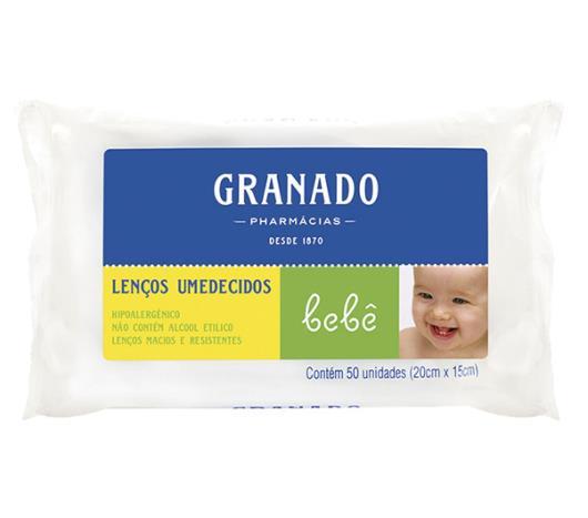 Lenço umedecido Granado bebê 50 unidades - Imagem em destaque