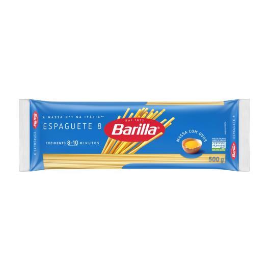 Massa com ovos espaguete n°8 Barilla 500g - Imagem em destaque