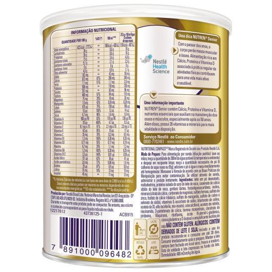 Nestlé NUTREN SENIOR Suplemento Alimentar Lata 370g - Imagem em destaque