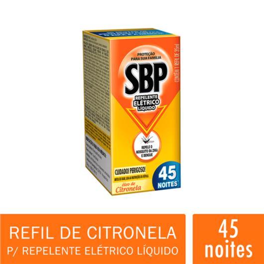 Repelente elétrico SBP 45 Noite Citronela Refil 35ml - Imagem em destaque