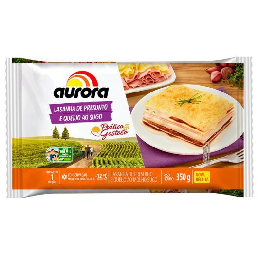 Lasanha Aurora presunto e queijo ao sugo 350g - Imagem em destaque