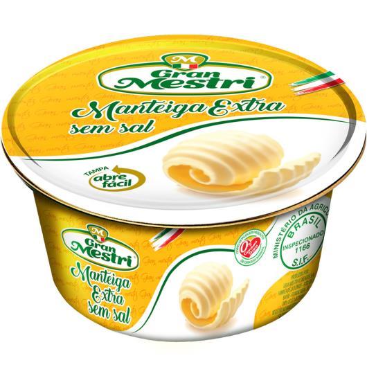 Manteiga extra sem sal Gran Mestri lata 200g - Imagem em destaque