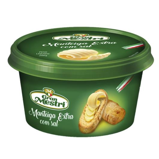 Manteiga extra com sal pote Gran Mestri 200g - Imagem em destaque