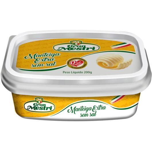 Manteiga extra sem sal pote Gran Mestri 200g - Imagem em destaque