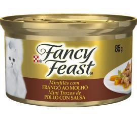 Alimento para gatos Fancy Feast sabor frango ao molho 85g