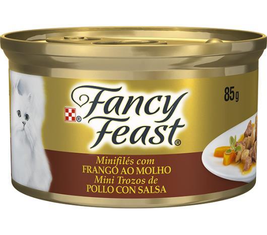 Alimento para gatos Fancy Feast sabor frango ao molho 85g - Imagem em destaque