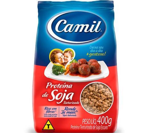 881e192be Proteína Soja Camil Text.Carne 400gr - Sonda Supermercados - Sonda