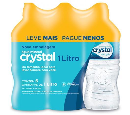 Água mineral Crystal sem gás Leve + Pague - 6x1L - Imagem em destaque
