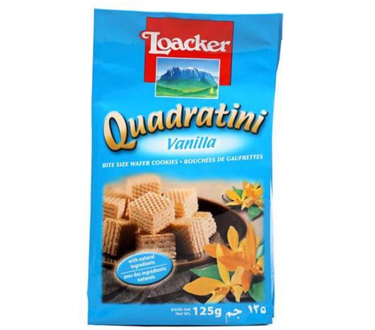 Wafer Loacker Quadratini mini vanilla 125g - Imagem em destaque