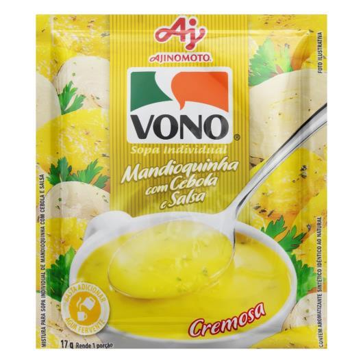 Sopa Individual Cremosa Mandioquinha com Cebola e Salsa Vono Pacote 17g - Imagem em destaque