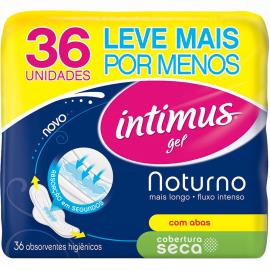 Absorvente Externo INTIMUS Noturno Seca c/Abas Leve 36 Pague 30 - 36 unidades