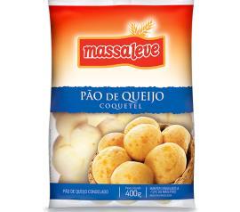Pão de queijo congelado coquetel Massa Leve 400g