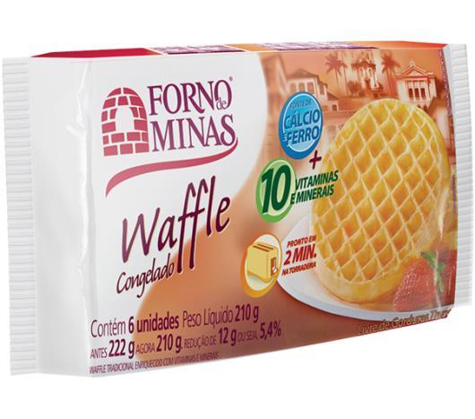 Waffle Forno de Minas tradicional congelado 210g - Imagem em destaque