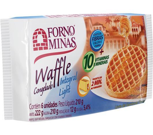 Waffle Forno de Minas integral light congelado 210g - Imagem em destaque