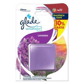 Odorizador Glade sensation lavanda refil - grátis 30% 8g