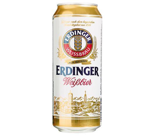 Cerveja Alemã Erdinger Weissbrau Weibbier lata 500ml - Imagem em destaque