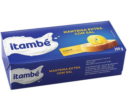 Manteiga extra com sal Itambé tablete 200g - Imagem em destaque