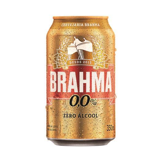 Cerveja Brahma Zero Álcool Lata 350ml - Imagem em destaque