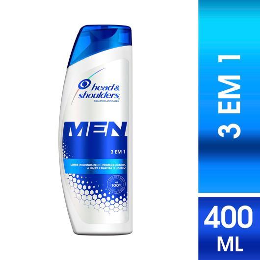 Shampoo Head&Shoulders Anticaspa Men 3 em 1 400ml - Imagem em destaque