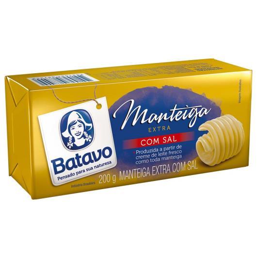 Manteiga Batavo extra com sal tablete 200g - Imagem em destaque