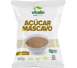 Açúcar Vitalin mascavo orgânico Sem Glúten 500g