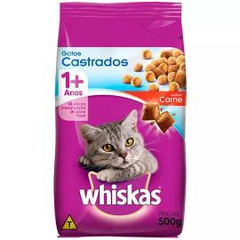Alimento para gatos castrados Whiskas sabor carne 500g