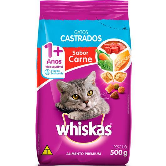 Alimento para gatos castrados Whiskas sabor carne 500g - Imagem em destaque