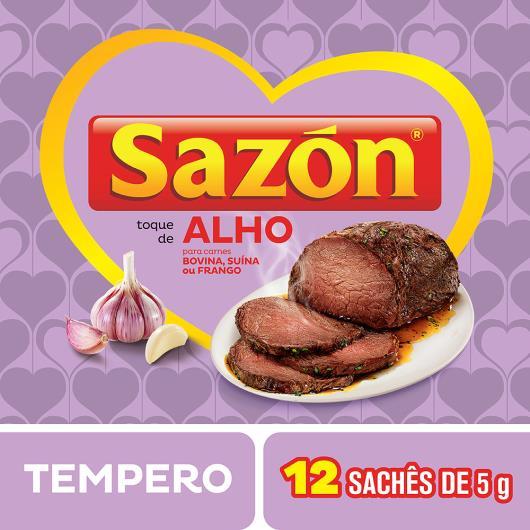 Tempero para Carnes Toque de Alho Sazón Pacote 60g 12 Unidades - Imagem em destaque