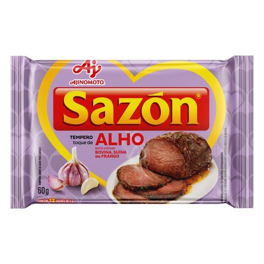 Tempero Sazón Toque de Alho para carnes bovina, suína ou frango 60g - Imagem em destaque