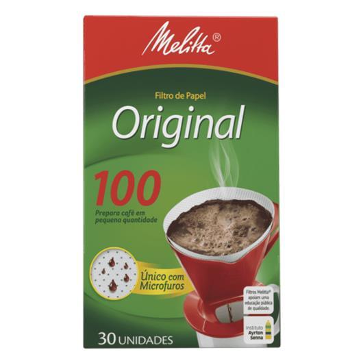 Filtro de Papel Melita Original 100 30UN - Imagem em destaque
